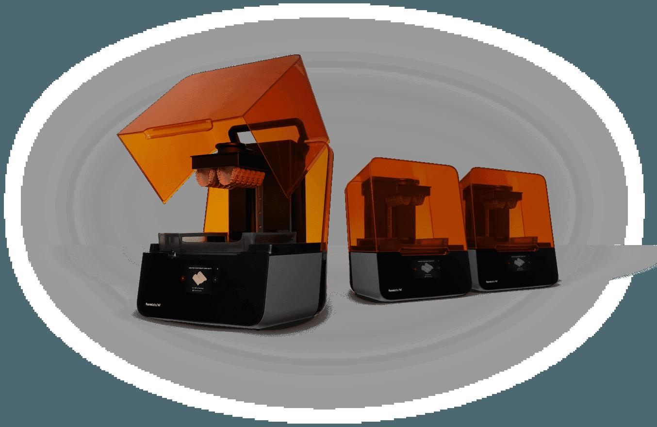 Three Form 3 printers